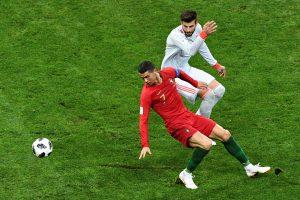 Portugalijos ir Ispanijos futbolininkų susitikimas baigėsi lygiosiomis