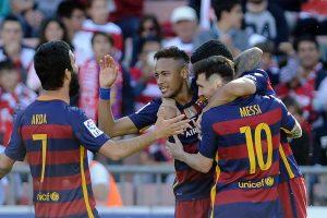 """""""Barcelona"""" apgynė Ispanijos futbolo pirmenybių čempionės titulą"""