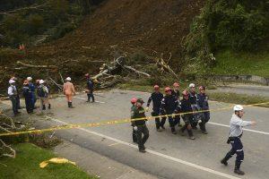 Kolumbijoje žemės nuošliauža nusinešė mažiausiai šešias gyvybes