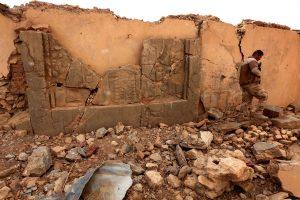 Irako pajėgos vertina istoriniam miestui džihadistų padarytą žalą
