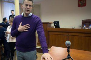 Rusijoje – pakartotinis opozicijos lyderio A. Navalno teismas