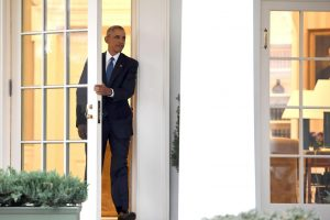 B. Obama paskutinį kartą pabuvojo Ovaliajame kabinete