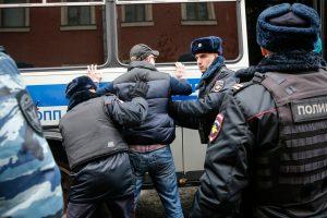 Maskvoje per protestą prieš V. Putiną sulaikyta apie 380 žmonių
