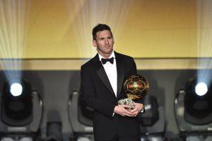 Geriausiu 2015 m. pasaulio futbolininku išrinktas L. Messi