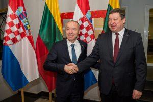 R. Karoblis: Lietuva vertina Kroatijos indėlį į regiono gynybą