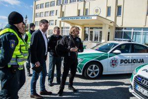 Lietuvos policijos mokykloje lankėsi B. Vanagas