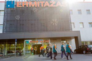 """Evakuota """"Ermitažo"""" parduotuvė sukėlė nerimą"""