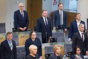 Sesiją pradedančiam Seimui prezidentė linki drąsos keisti Lietuvą