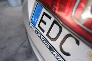 Keičiasi automobilių numerio ženklų sudarymo tvarka