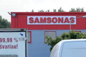 """Drebinami bendrovės """"Samsonas"""" pamatai?"""