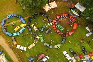 Technikos mylėtojų stovykloje – olimpiniai žiedai iš automobilių