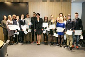 Apdovanoti Europos jaunimo festivalio dalyviai