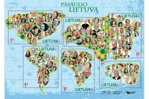 """Išleistas unikalus pašto ženklas """"Pasaulio Lietuva"""""""