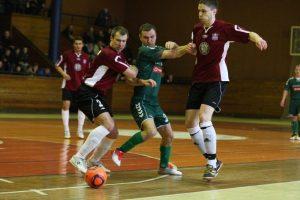 Salės futbolo A lygos rungtynės baigėsi lygiosiomis
