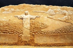Smėlio skulptūrų paroda perkelia į olimpinį Rio de Žaneirą