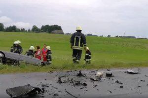 Per avariją Utenos rajone žuvo du žmonės
