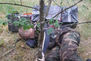 Kapčiamiesčio pasieniečių sulaikomi kontrabandininkai bandė priešintis