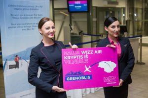 """Wizz Air"" iš Vilniaus pradėjo skraidinti į Alpių sostinę Grenoblį"