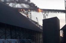 Sekmadienio vakarą Malkų įlankoje kilo gaisras