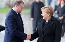 S. Skvernelį Berlyne priėmė Vokietijos kanclerė