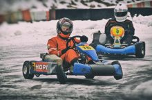 Kartingo meistrai žiemos sezoną baigs Aukštadvaryje