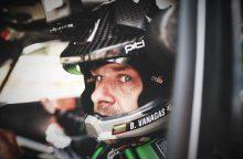 """""""Rally Latvija"""" sprogusia padanga važiavęs B. Vanagas – ketvirtas"""