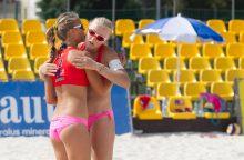 Lietuvos paplūdimio tinklininkės sparčiai kyla link pasaulio elito