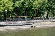 Klaipėdos centre įgriuvo Danės krantinė
