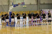 """Pirmoji """"Kibirkšties"""" pergalė Rytų Europos moterų krepšinio lygoje"""