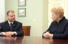 Premjeras apie prezidentę: 10 metų Lietuvoje buvo vienintelis neklydęs žmogus