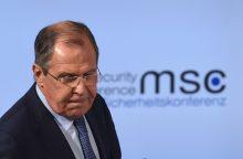 S. Lavrovas: Ukrainos rytuose nuo pirmadienio įsigalios paliaubos