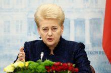 D. Grybauskaitė: labai tikiuosi, kad sankcijos Rusijai bus pratęstos