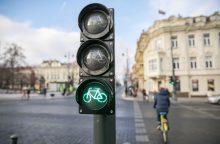 Gedimino prospekte – dviratininkams pritaikyti šviesoforai