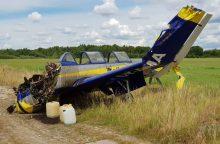 Aleksoto aerodrome nukrito avariniu būdu turėjęs leistis lėktuvas <span style=color:red;>(papildyta)</span>
