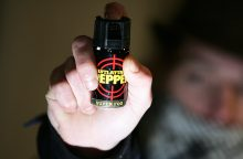 Sulaikomas vagis policininkui į veidą papurškė dujų