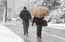 Savaitės orai: žiemos vizitas truks neilgai