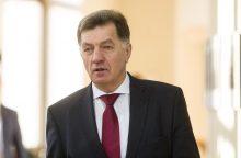 Premjeras ir žemės ūkio ministrė neskuba vertinti įtarimų J. Miliui