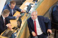 M. Bastys žlugdo socialdemokratų planus įkurti frakciją