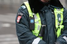 Panevėžio rajono gyventojas į policininką metė kirvį