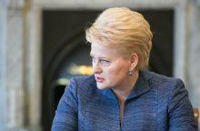 D. Grybauskaitė: parlamentinis tyrimas dėl verslo įtakos politikai – selektyvus
