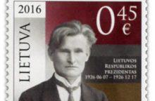 Prezidentas K. Grinius bus pagerbtas pašto ženklu