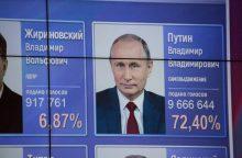 Lietuvoje 85 proc. Rusijos piliečių balsavo už V. Putiną