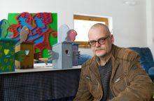 Dailininkas M. Jonutis nuotaikingais darbais ragina atsisakyti negatyvumo