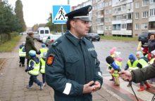 Klaipėdos pareigūnai dalyvavo akcijoje mažiesiems