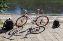 Neblaivus vyras policininkams siūlė pinigų ir dviratį