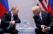 Maskva paskelbė, kada ir kur dar šiemet įvyks V. Putino ir D. Trumpo susitikimas