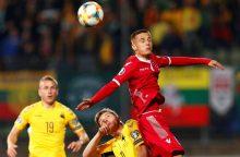 Lietuvos futbolininkai: įvartis į rūbinę sumaišė kortas
