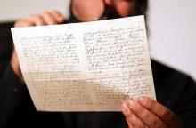 Antisemitinio turinio laiškas aukcione parduotas už 34 tūkst. dolerių