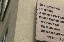Atidengta atminimo lenta architektui V. Čekanauskui