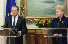 D. Tuskas: Lietuvos himno žodžiai galėtų būti Europos bendrijos šūkis